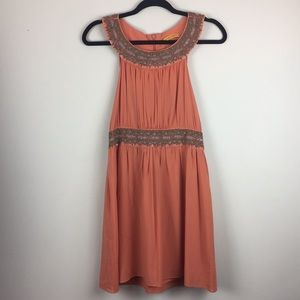 Alice + Olivia Orange Embellished Dress Size Small